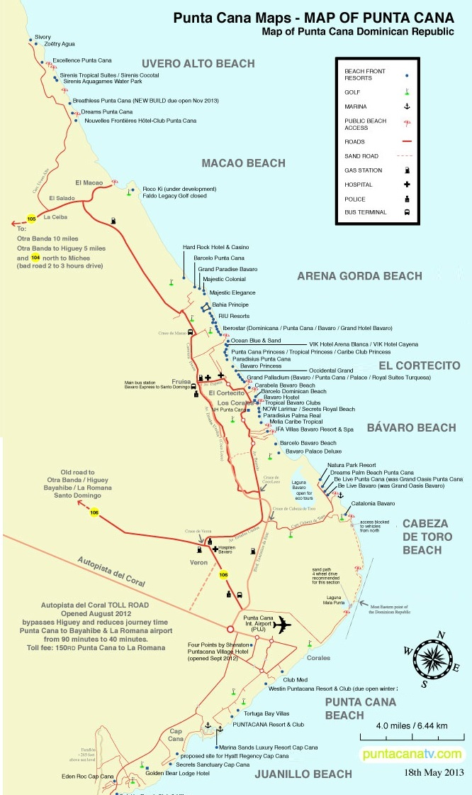 map resorts punta cana