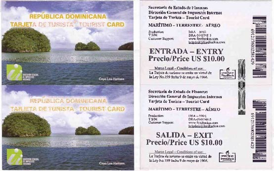 Dominican Tourist Card